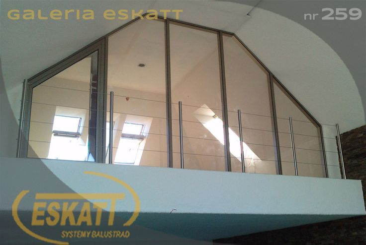 Stainless steel balusterade; with steel links #balustrade #eskatt #construction #balcony