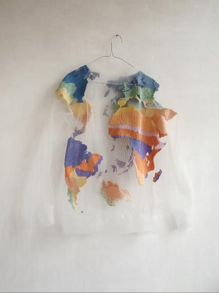 awesome! luciana grimaldi: Sweaters, Sustainability Fashion, Globes, Jumpers, World Maps, Earth Day, My Styles, The World, Planets Earth