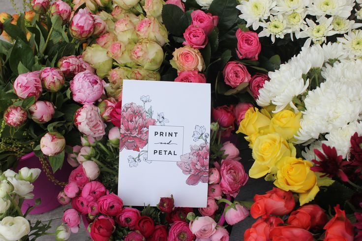 Print and Petal | Processing the stock for the mothersday workshop, something for everyone.