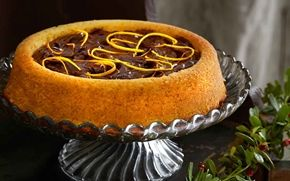 Orange cake with orange chocolate truffle (in Swedish)