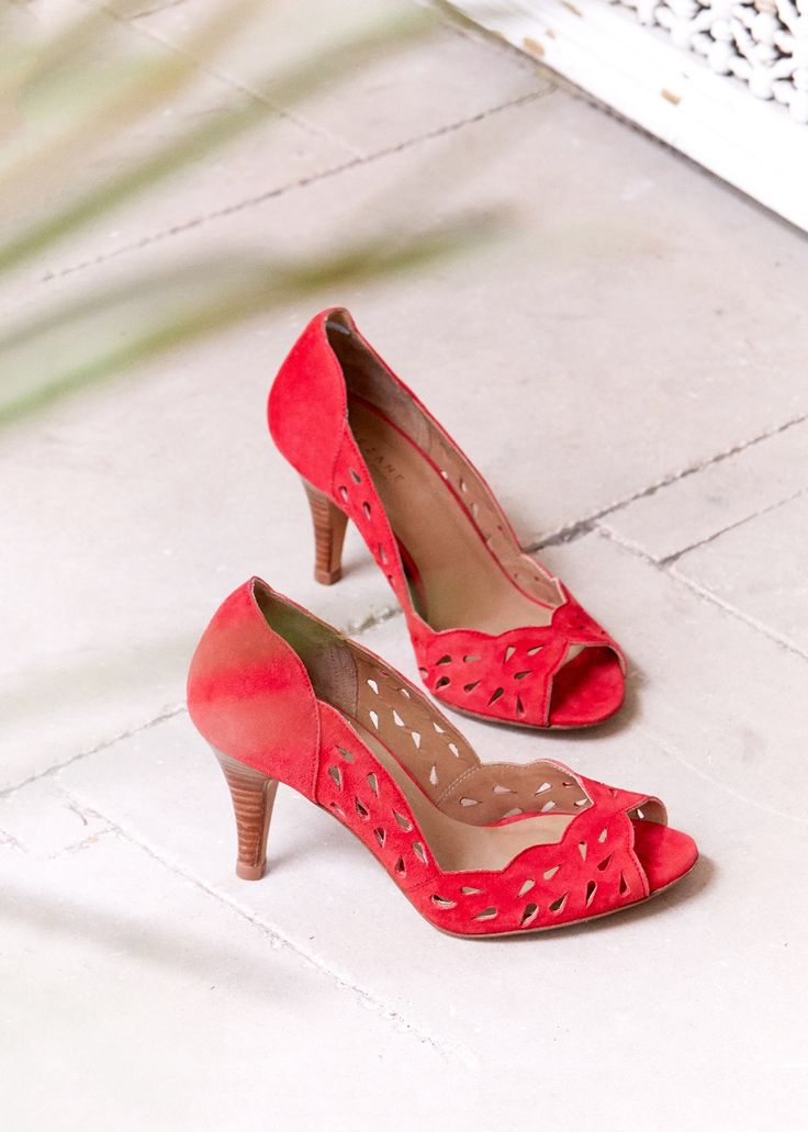 Sézane - Escarpins High Jane red shoes chaussures talons rouge