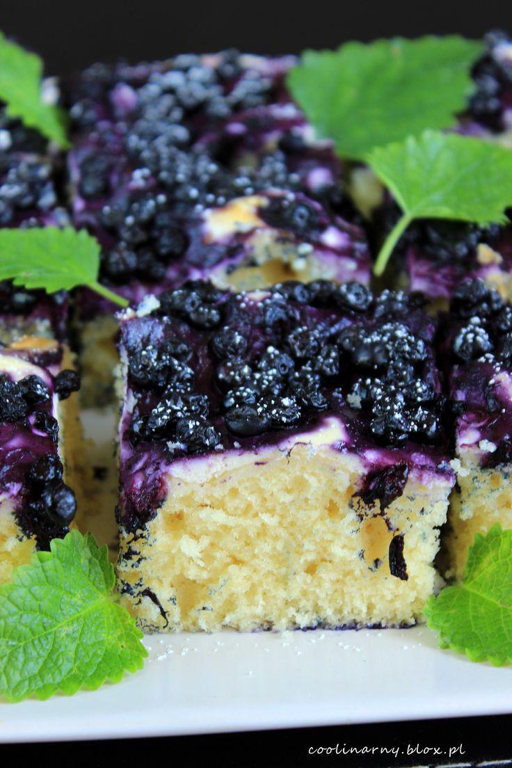Ciasto ucierane z serem i jagodami