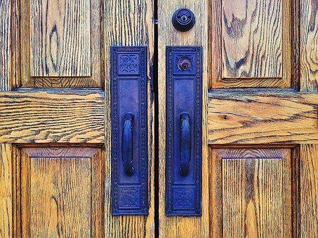 Door, Wooden, Entrance, Doorway
