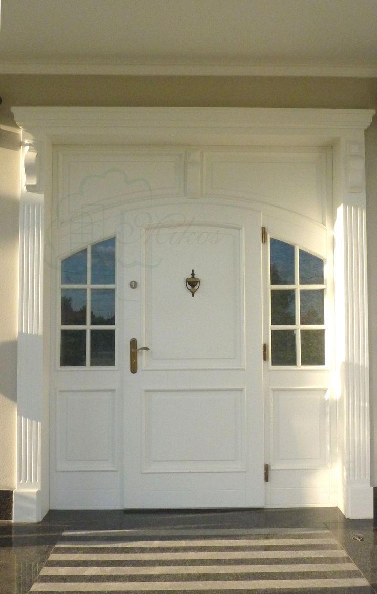 Drzwi wejściowe łukowe drewniane