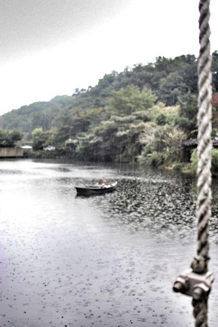 Rainy day in korean folk village,,,