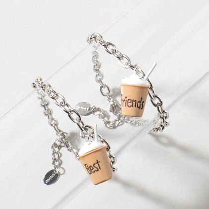 Bond over some coffee this Best Friends Day: Mocha BFF Charm Bracelet Set