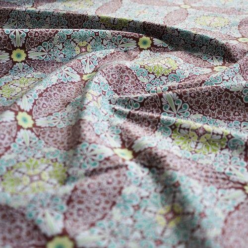 Tkanina bawełniana Grande Dame Brown Blend Fabrics