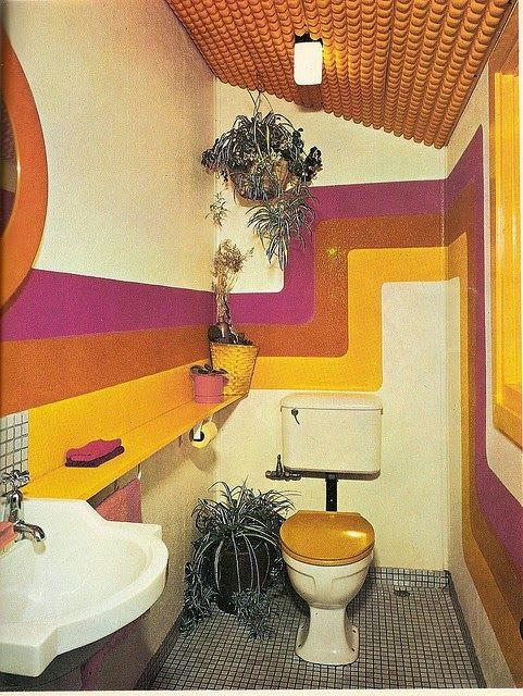 Moon to Moon: Vintage Homes: Rainbow Rooms from the 1970's