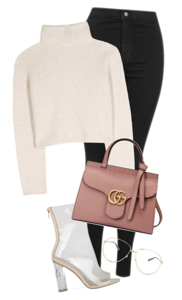 """""""Untitled #806"""" by pocaondasxx ❤ liked on Polyvore featuring Topshop, The Row and Gucci"""