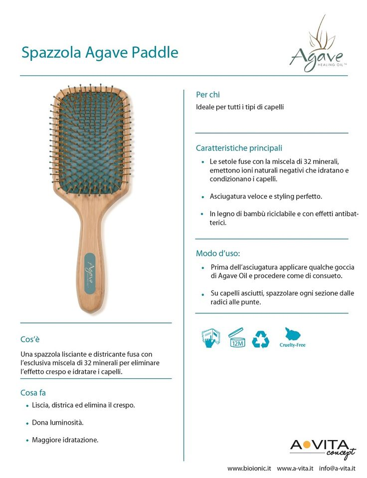 Spazzola Agave paddle