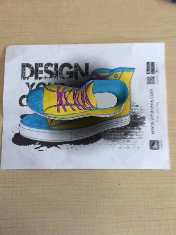 "MrsEsl on Twitter: ""This shoe was made for writing about! ColAR Mix app 403 http://t.co/CZXPFkJsFz"""