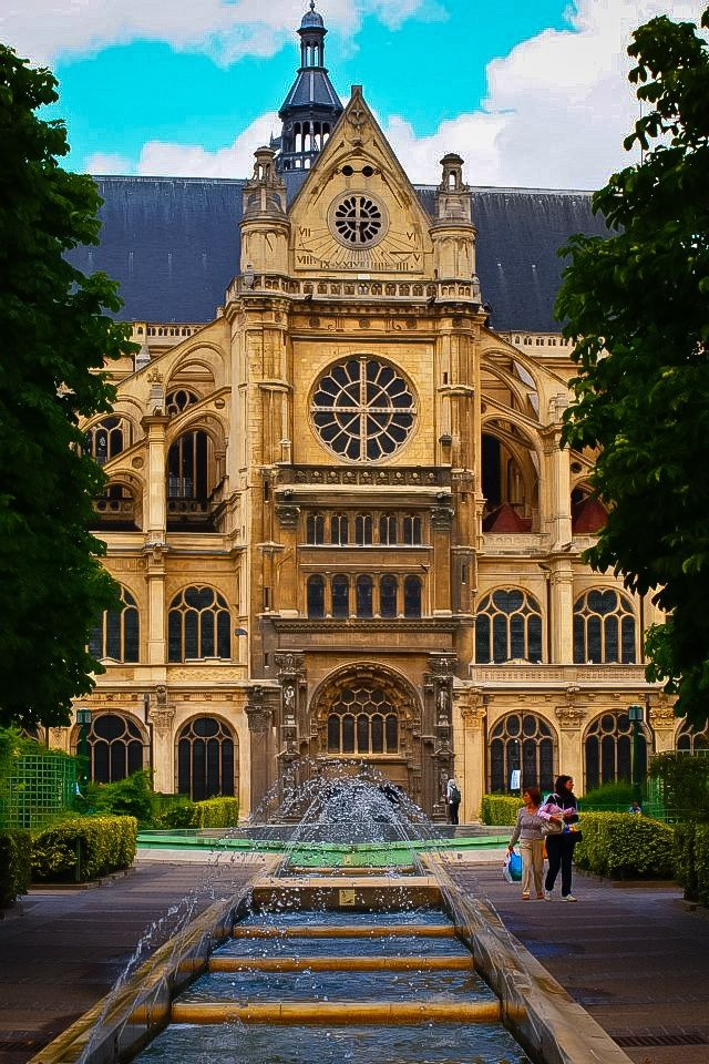 The Church of St Eustace is a church in the 1st arrondissement of Paris. Situated at the entrance to Paris's ancient markets (Les Halles) and the beginning of rue Montorgueil, St Eustace's is considered a masterpiece of late Gothic architecture.
