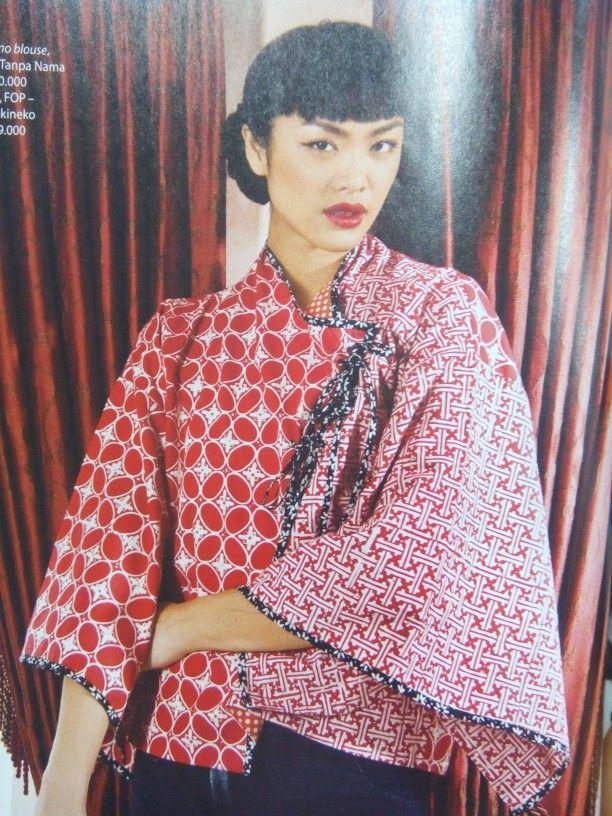 Beautiful red batik. Lovely Indonesia