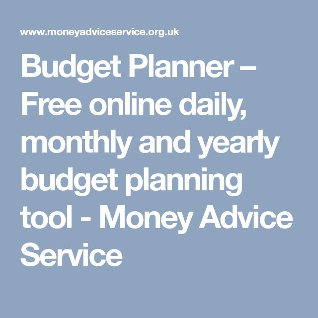 Budget Planner – Free online daily, monthly and yearly budget planning tool - Money Advice Service