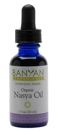 Nasya Oil, Certified Organic. This stuff powerfully decongests your sinuses without irritation. Because it is an oil, it lightly lubricates while drawing out unwanted stuff.