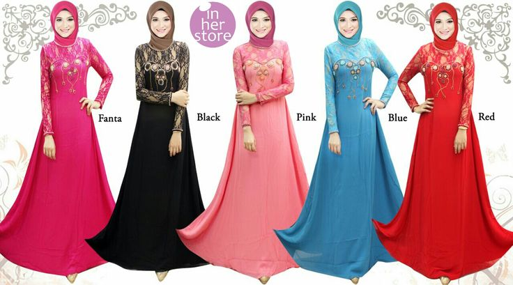 Gamis/Jubah by In Her Store Indonesia - Lady Rose Series Material : Chiffon Cerutti Size : S – M – L – XL Retail Price : Rp 225rb/pc Reseler Price : Rp 200rb/pc (min.3pcs, mix size & colours allowed) PIN : 75BD8849 Line : go2dika