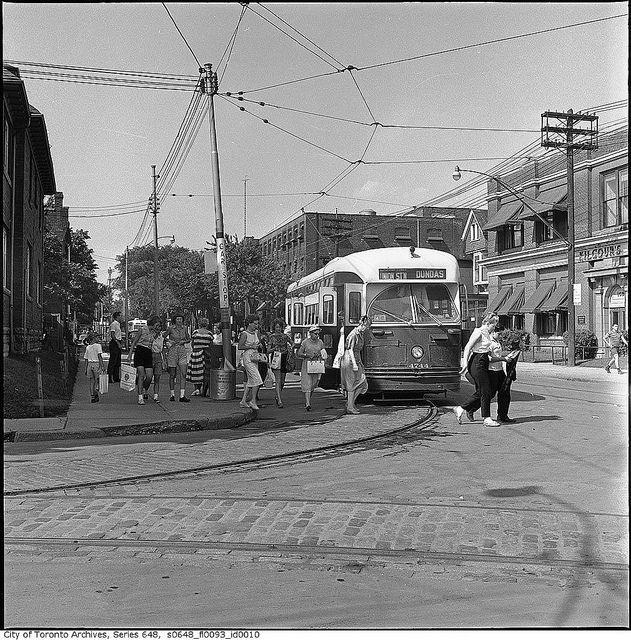 Streetcar to the CNE, Toronto, Canada, 1961. #vintage #Canada #1960s