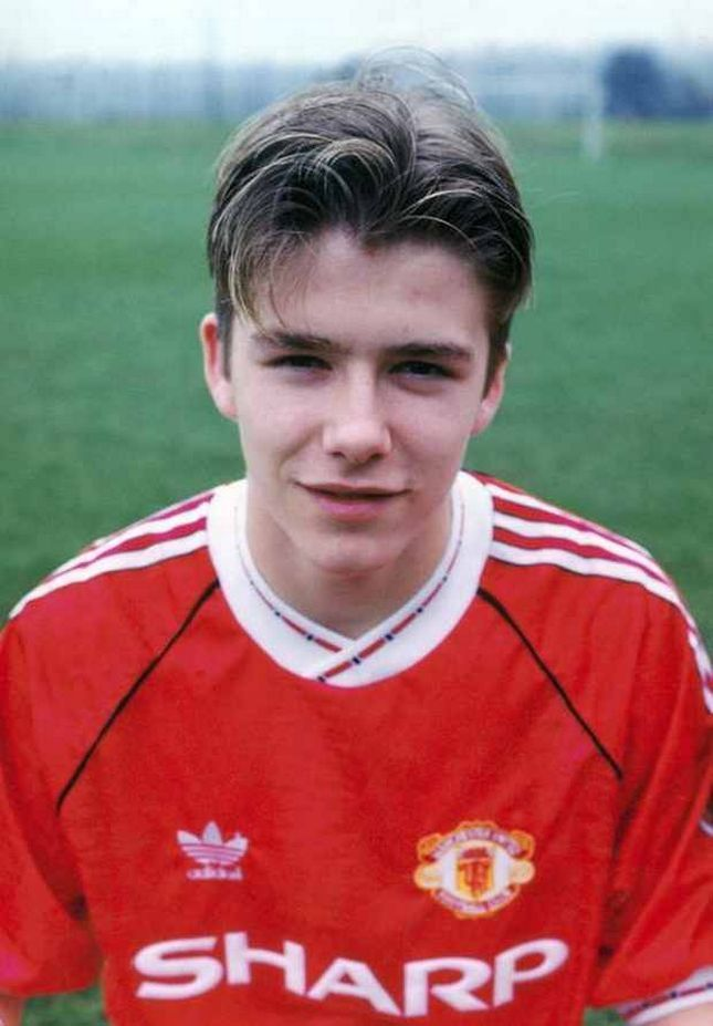 Manchester United youth team player David Beckham pictured in February 1992