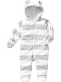 Micro Performance Fleece Hooded One-Pieces for Baby