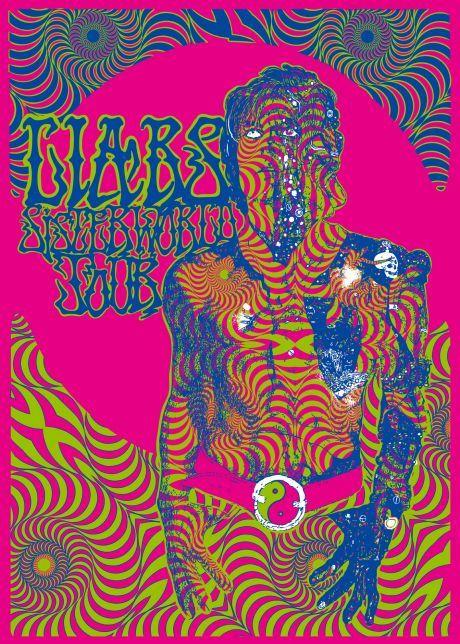 bozza concerto Liars: poster di Sonny Alabama su Italian Poster Rock Art