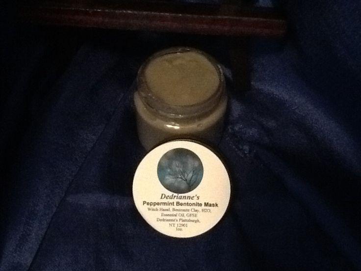One 1oz. Jar of Peppermint Or Basic Bentonite Mosquito Bites, Acne, Rash, Chicken Pox & Shingles Treatment Designed for Sensitive skin! by Dedriannes on Etsy