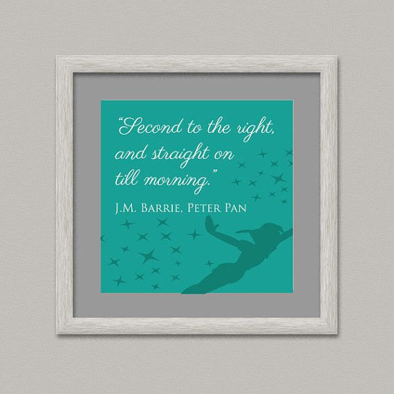 PETER PAN I QUOTE Kids Wall Decor Printable Digital by OopsyIdeas
