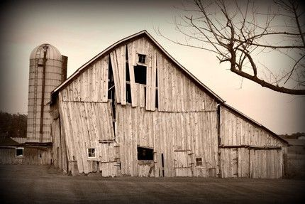 Broken Barn  8x12 Metallic Print by StudioLPrints on Etsy
