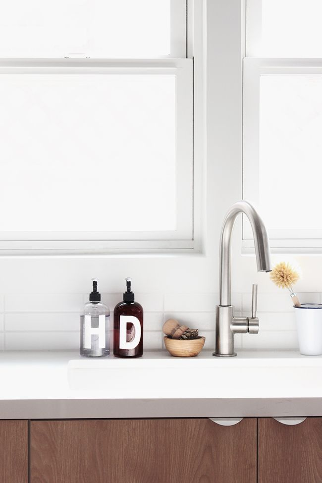 DIY minimal soap bottles | almost makes perfect