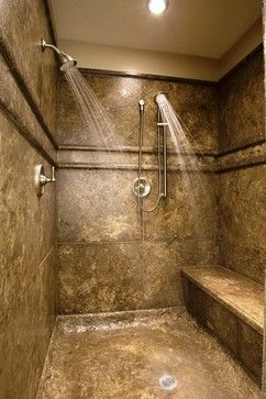 Concrete Shower Design - contemporary - showers - other metro - Stone Passion Northeast