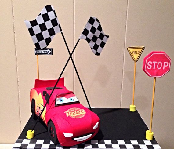 cars cake topper party table centerpiece kids party by yndiraartz 2200