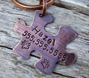Unique dog ID tags; Bonus: Proceeds from thus one benefit rescues worldwide (Fetch A Passion Tags)