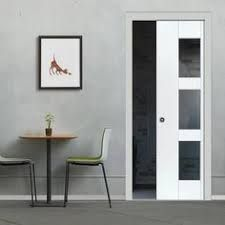 Image result for Wickes Stirling Internal Moulded Door White Glazed Primed cavity slider