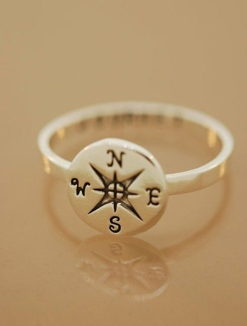 East Coast Beach House - Compass Ring: Band, Compass Rings, Stuff, Style, Clothing, Rings Custom, Accessories, Rose Rings, Compass Rose