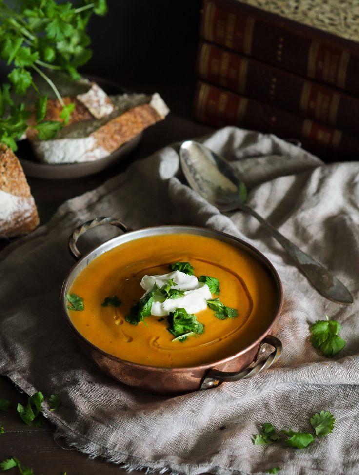Potet-og purresuppe med spicy chorizo og et hint av trøffel