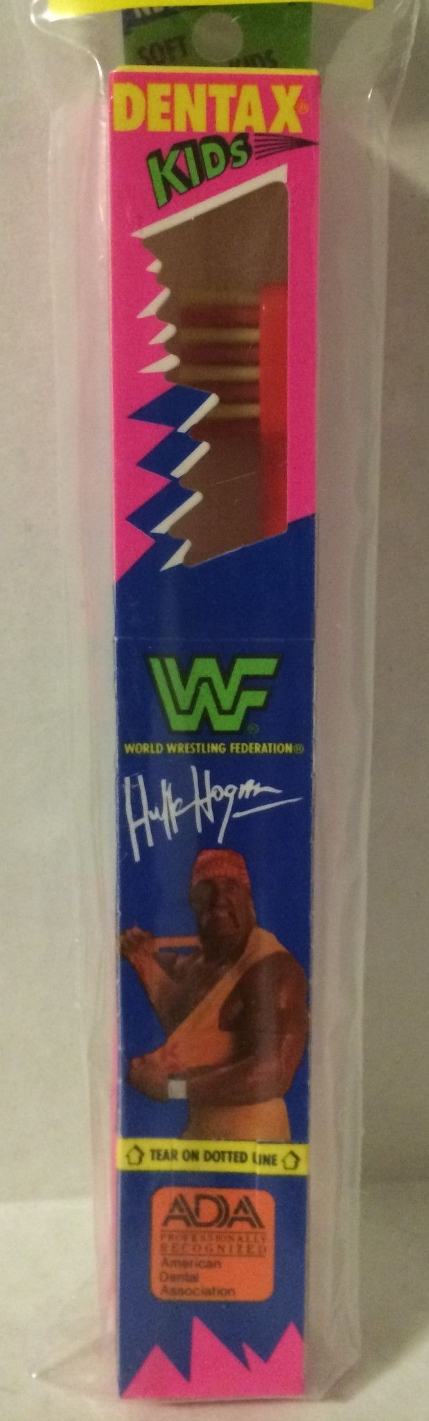 (GBS04587) - WWF WWE WCW nWo Wrestling Dentax Kids Toothbrush - Hulk Hogan