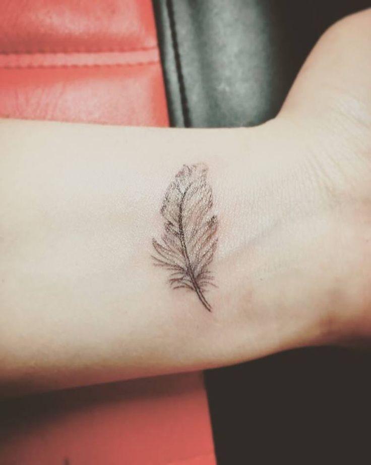 Little Feather Tattoo Design