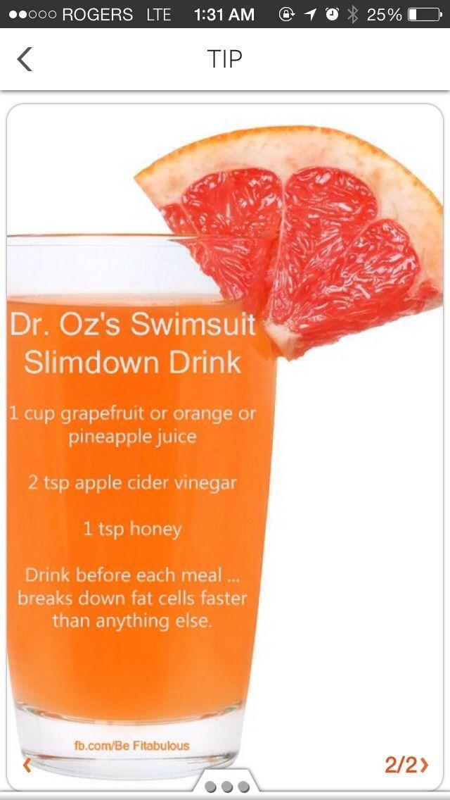 Dr. Oz's Swimsuit Slimdown Drink #weightlosstips