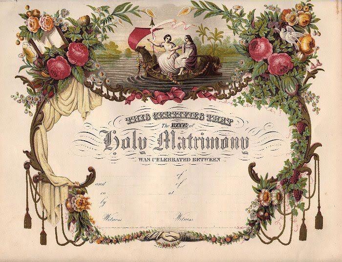 27 best Keepsake Wedding Certificates images on Pinterest Marriage - copy free fake marriage certificate