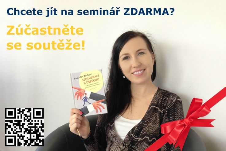 Máte některou z našich brožur? Zapojte se do soutěže a vyhrajte účast na semináři JAK ZÍSKAT ČAS zdarma! JAK NA TO? 1. Vyfoťte se s brožurou. 2. Pošlete nám fotku (marketing@success.cz). Ze všech fotografií vylosujeme 2 výherce, kteří získají účast na semináři JAK ZÍSKAT ČAS zdarma. Uzávěrka pro sběr fotografií je 31. března 2014. Slosování proběhne 4. dubna 2014. ow.ly/uqAzf