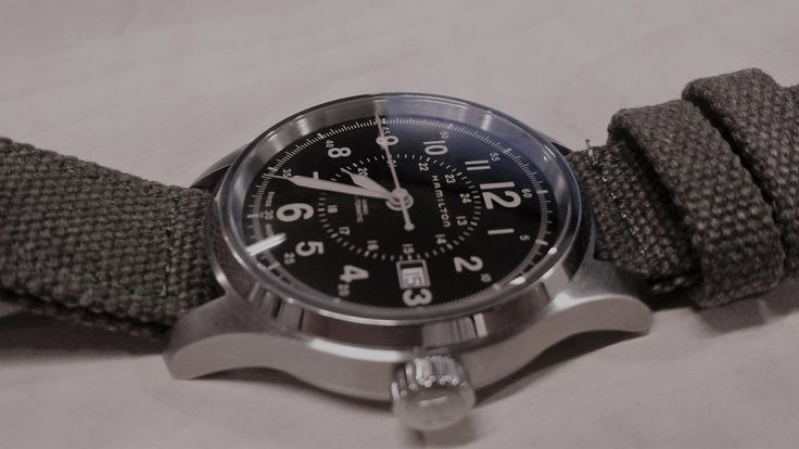 When American style meets Swiss horology. The superb elegant, rugged HAMILTON Khaki Field Automatic. #HAMILTONWATCH #HAMMY #H70595593 #KhaValeri http://www.pinterest.com/KhaValeri/    kha_amz_HAMkfield0903_v7