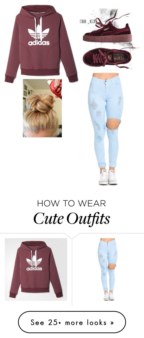 """A Cute Outfit"" by eva-valenzuela on Polyvore featuring adidas and Puma"