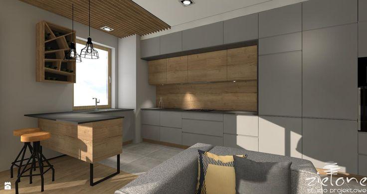 Kuchnia styl Industrialny - zdjęcie od ZIELONE studio projektowe - Kuchnia - Styl Industrialny - ZIELONE studio projektowe
