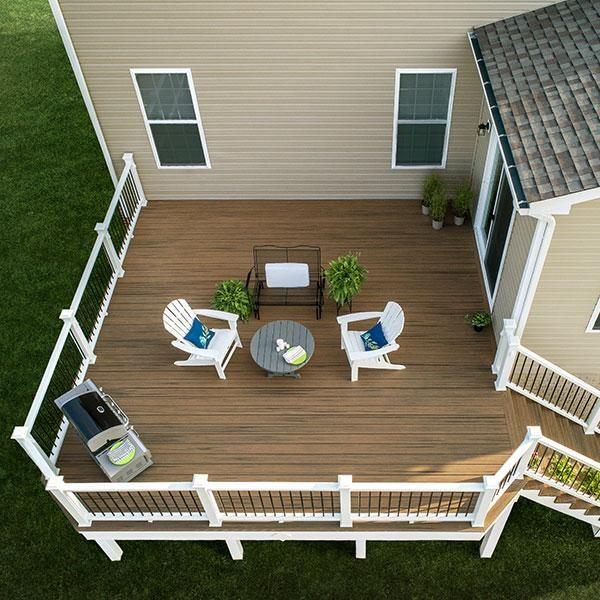 Composite Decking Image Gallery Decksdirect Trex Enhance Deck Design Composite Decking