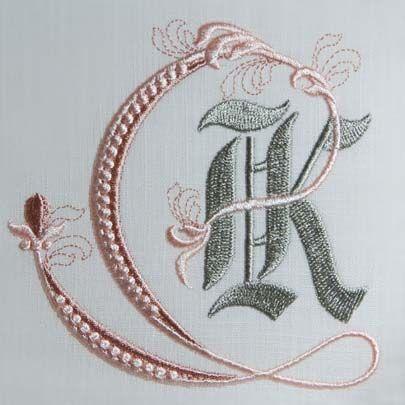 Fleur de Lis Alphabet- K: