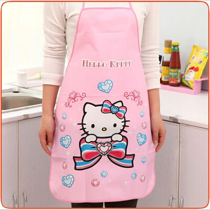 Cute colorful cartoon apron women restaurant home kitchen BBQ apron water proof oil-proof PVC apron