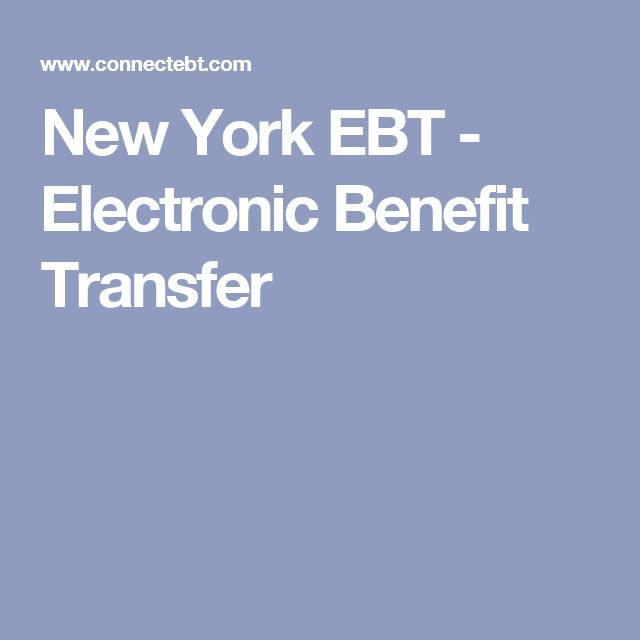 New York EBT - Electronic Benefit Transfer