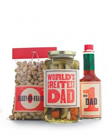 Handmade Father's Day Gifts - Retro Father's Day Clip-Art Labels