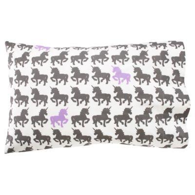 unicorn pillowcase, with purple no less