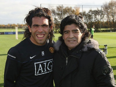 Picture of Carlos Tevez with his mother....