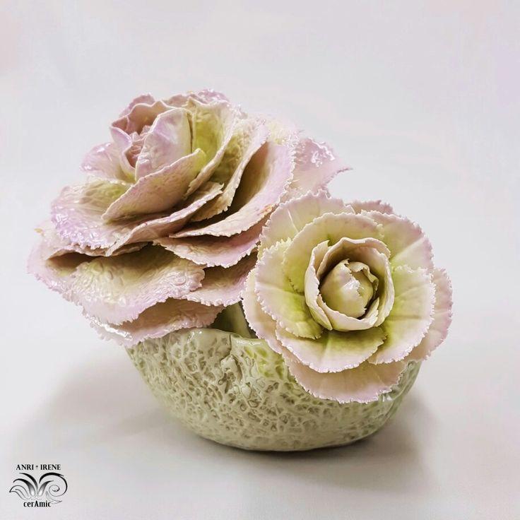 Porcelain cabbage, porcelain lettuce, ceramic vegetables, ceramic floral
